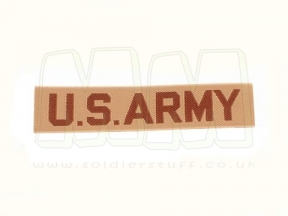 "U.S. Army Name Tape ""U.S. Army"" (Desert)"