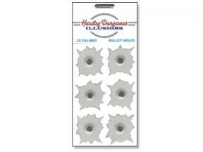 Hardley Dangerous Illusions .38 Bullet Hole Sticker Decals (6 Stickers)