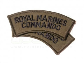 Shoulder Flash Pair - Royal Marines Commando (Subdued)