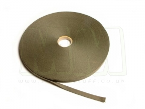 U.S. Genuine Issue GI Webbing Strap, 14mm Wide (Priced Per Meter)