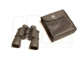 NCS 10x50 Black Rubber Armoured Binoculars with Pouch