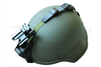 Emerson MICH Helmet with Rhino Night Vision Mount (Olive)