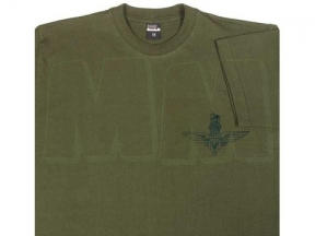 Mil-Com T-Shirt with Para Emblem (Olive) - Size Large