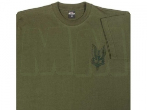Mil-Com T-Shirt with SAS Emblem (Olive) - Size Large