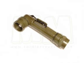 Mil-Com Medium Right Angled Torch with Batteries (Olive)