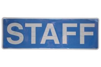 Zero One VizMax Pro Reflective Staff Badge Large
